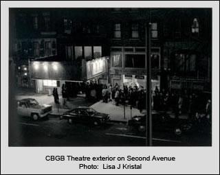 CBGB theatre exterior on Second Avenue