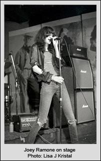Joey Ramone on stage