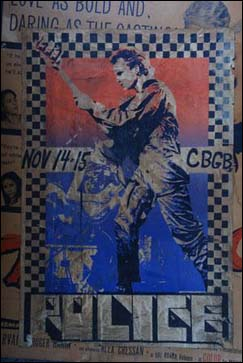 CBGB's Police poster