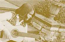 Kit Hain and a young guitar