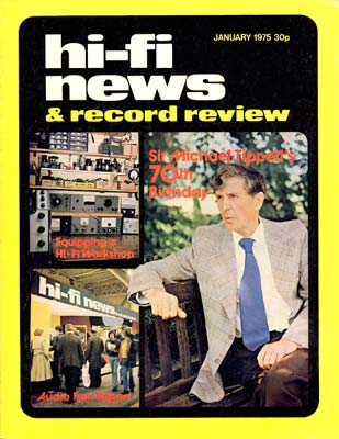 Sir Michael Tippett Interviewed by Mike Thorne 1975
