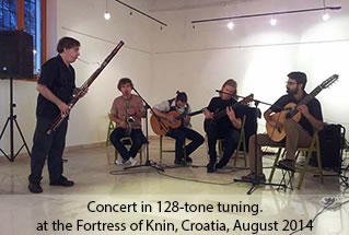 Concert in 128-tuning, Fortress of Knin, Croatia 2014