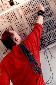 Working at the Serge Modular synthesizer, March 1999
