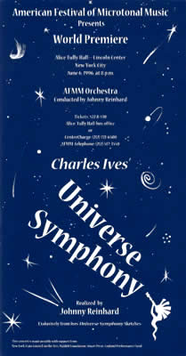 Flyer for Universe Symphony premiere