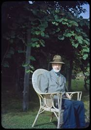 1950, outside his summer home in West Redding, CT courtesy Yale Music Library