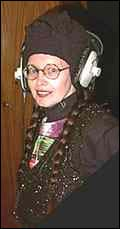 Lene Lovich in the Stereo Society studio
