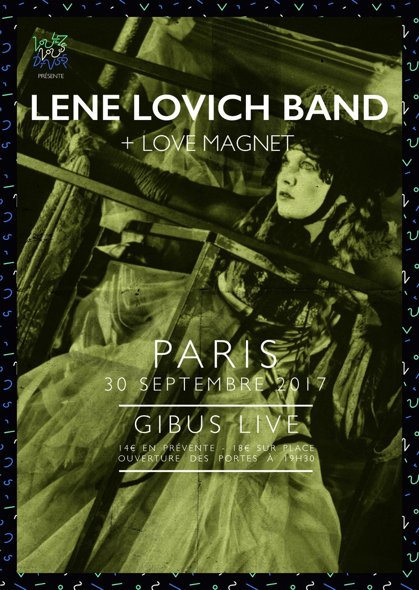 Poster for the Lene Lovich Band with Love Magnet