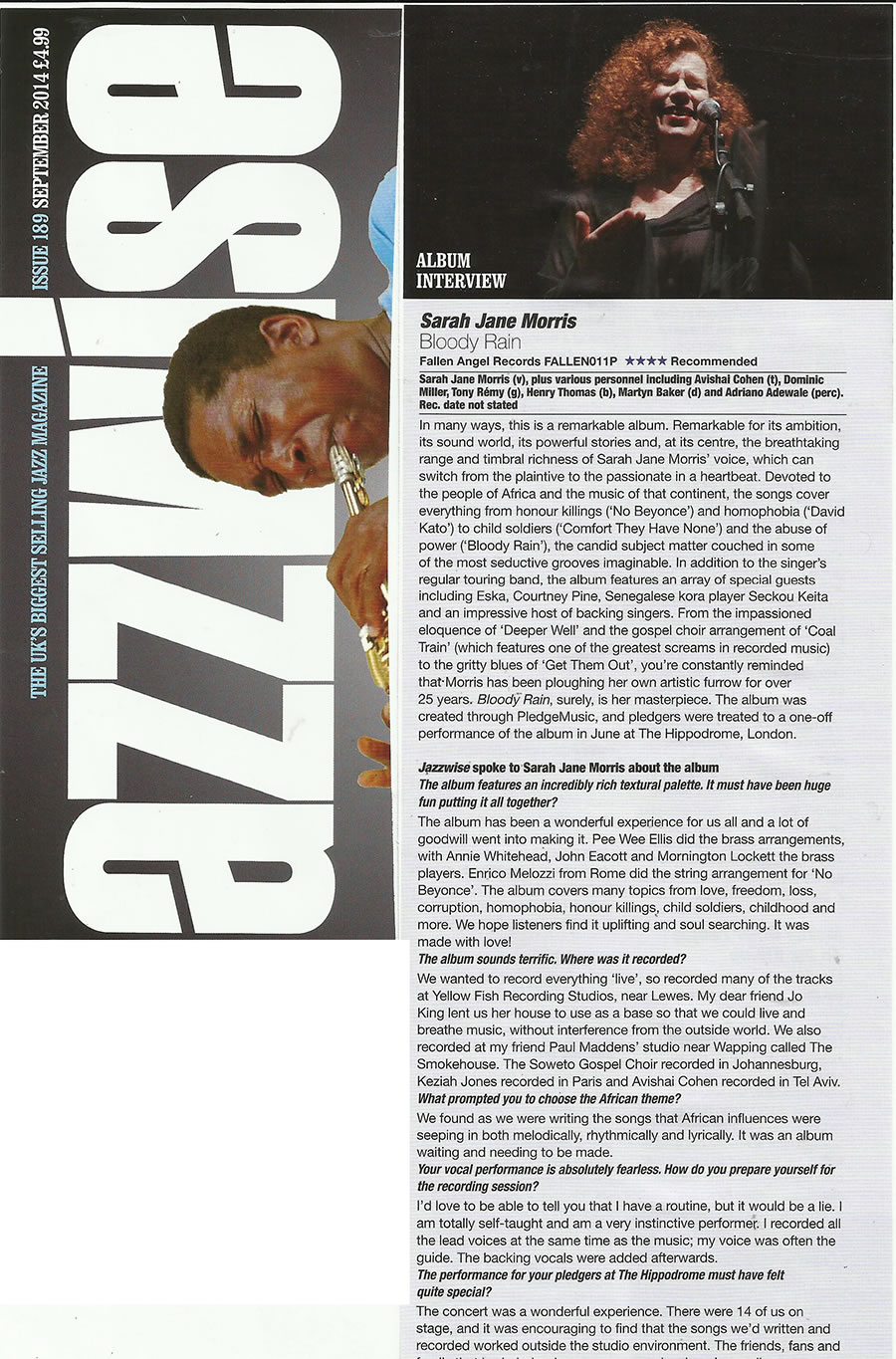 Jazzwise interview