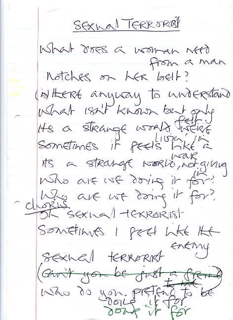 Marianne's Sexual Terrorist lyrics