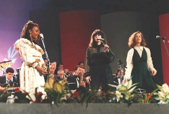 Cassandra Wilson, Astrud Giberto and me singing The Long And Winding Road