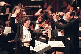 Johnny Reinhard conducts his realization of Charles Ives' Universe Symphony