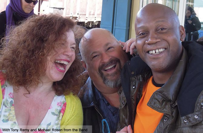 With Tony Remy and Michael Rosen from the band