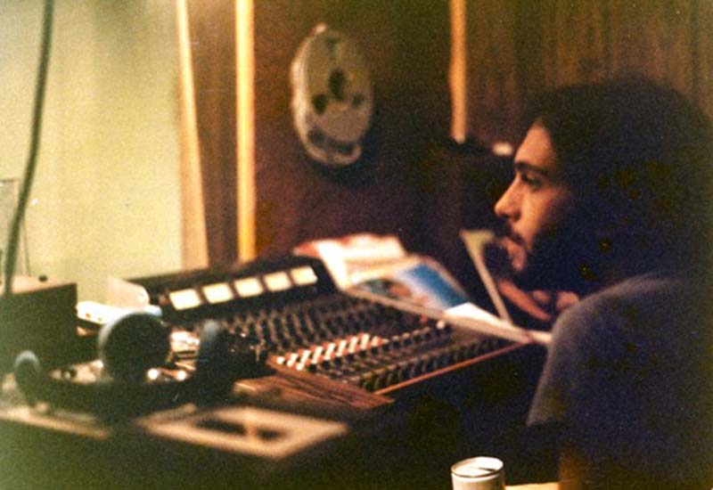 Ronnie Ardito at the Shirt House home demo studio controls