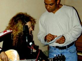 Carl Beatty with BETTY's Elizabeth Ziff on the Carnival recording sessions