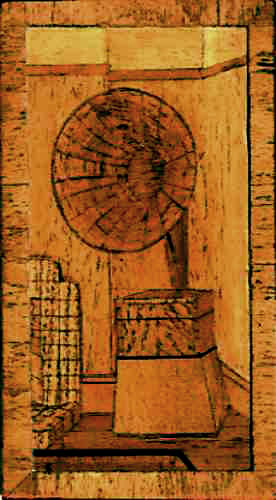 Marquetry gramaphone image