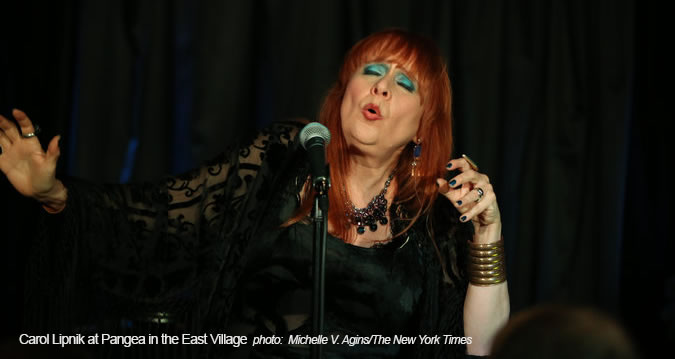 Carol Lipnik performs at Pangea NYC, November 2015