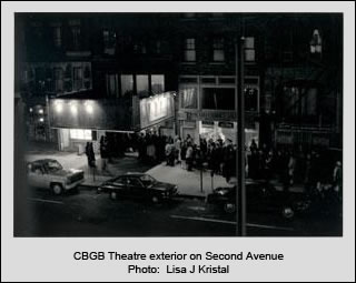CBGB theatre exterior on Second Avenue