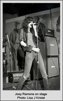 Joey Ramone on stage