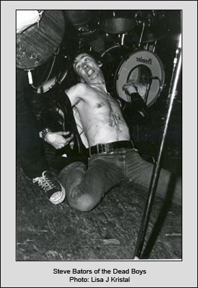 Steve Bators of the Dead Boys in 1977
