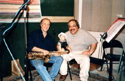Jimmy with Dave Tofani, saxophonist and clarinettist, on session