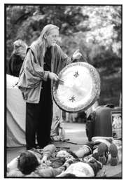 Don The Gong performing at a festival