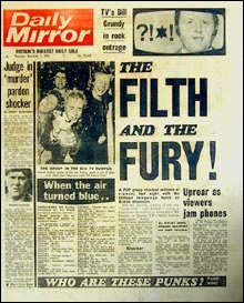 'The Filth And The Fury', Daily Mirror cover image