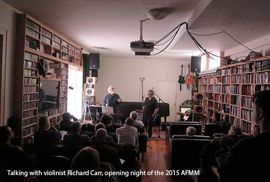 Johnny Reinhard with violinist Richard Carr at the opening night of the 2012 AFMM