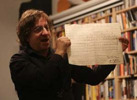 Reinhard with sheet music