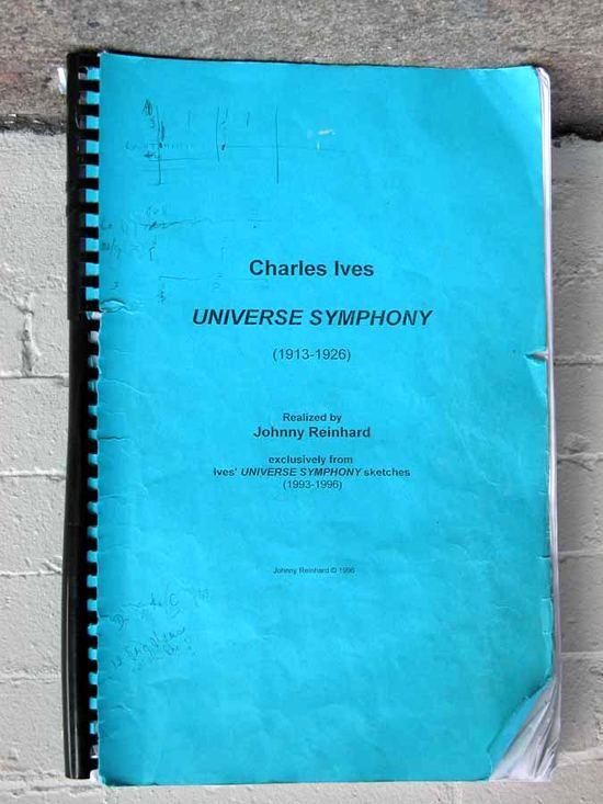 Universe Symphony score - cover page