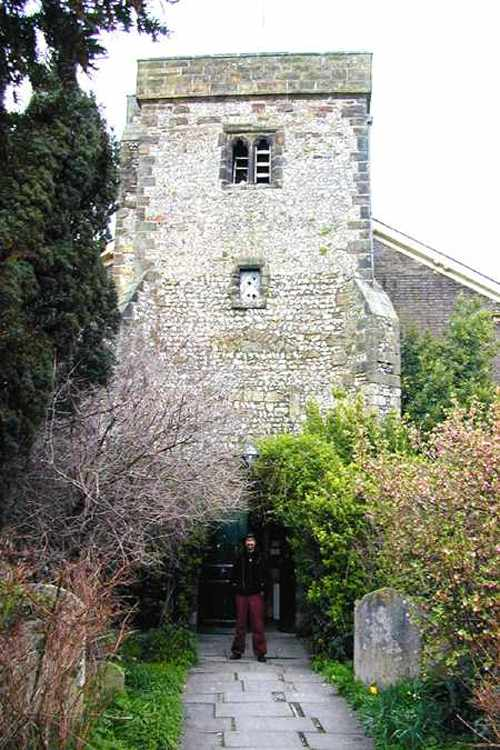 Decommissioned church, now an arts center in Lewes, near Brighton, England, where Arthur now lives