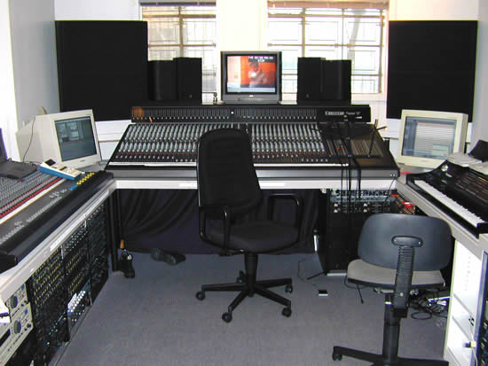 The Stereo Society control room on break