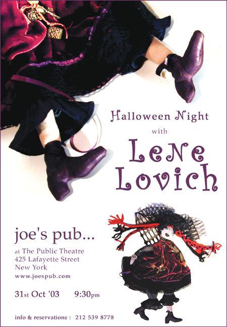 Lene Lovich Joes's Pub poster