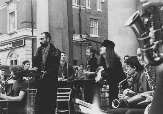 Busking In Covent Garden, 1985