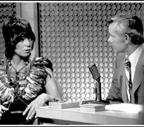 With Johnny Carson, 1972