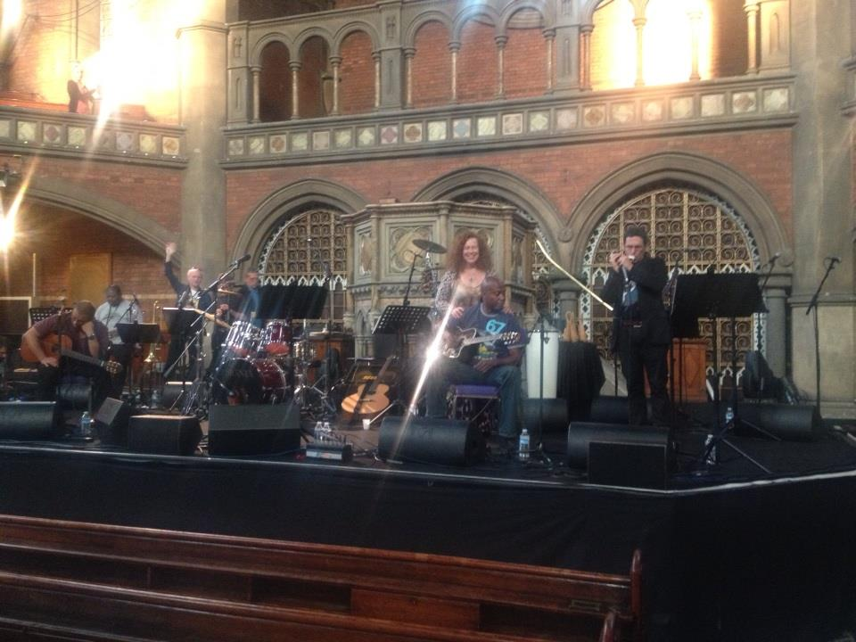Sound check at The Union Chapel, London, 18th September 2014