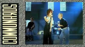 Sarah Jane Morris performing with the Communards