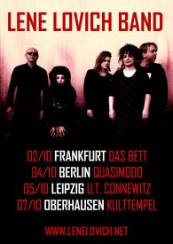 Poster showing the band's German tour dates,, October 2017