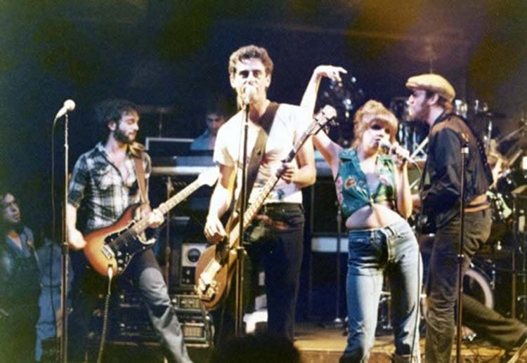 The Shirts on stage at CBGBs in 1978