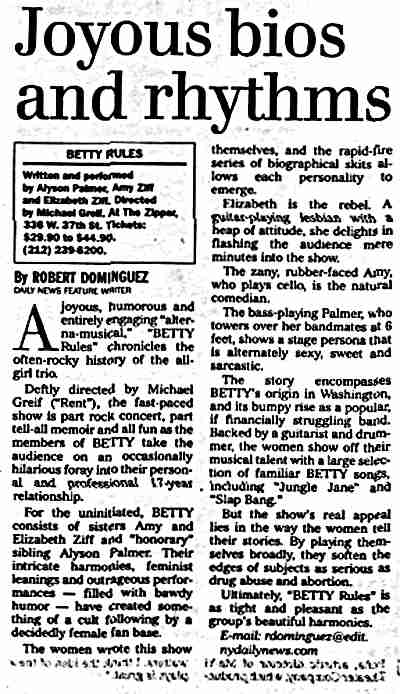Scan of BETTY Rules review text