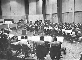 Leonard Bernstein and the London Symphony Orchestra recording Stravinsky's Rite of Spring in Abbey Road, Studio 1