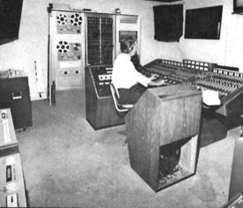 EMI's Quadraphonic remix room, Abbey Road, with Stuart Eltham engineering